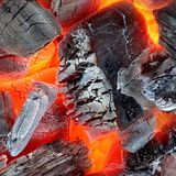 Glowing Hot Charcoal Background Texture Royalty Free Stock Photo