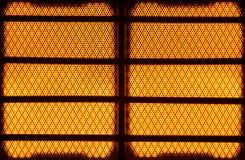 Glowing hot propane ceramic heater Stock Images