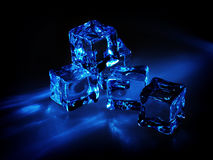 Glowing ice cubes Stock Image