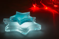 Glowing ice stars Royalty Free Stock Photos
