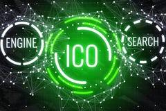 Glowing ICO background stock illustration