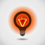 Glowing idea bulb icon Stock Photos
