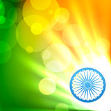 Glowing indian flag vector Royalty Free Stock Images