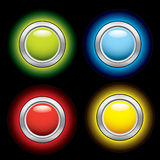 Glowing internet buttons Stock Photo
