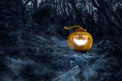 Glowing jack lantern. Mixed media . Mixed media Royalty Free Stock Images