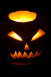 Glowing Jack-o'-lantern Stock Image