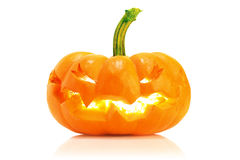 Glowing jack o' lantern Royalty Free Stock Photography