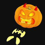 Glowing Jack O'Lantern, Halloween pumpkin Royalty Free Stock Image