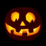 Glowing Jack-o'-lantern pumpkin isolated Royalty Free Stock Images