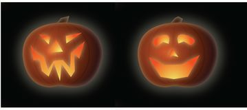 Glowing JackoLanterns Stock Photos
