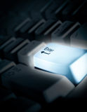 Glowing keyboard. With accented Enter key Stock Image