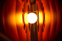Glowing lamp close up#3. Orange glowing, blury lamps in the darknes.Close up stock photos