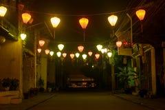 Glowing lampions Stock Photo