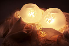 Glowing Lamps Royalty Free Stock Photo