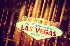 Glowing Las Vegas Sign Stock Images