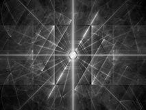 Glowing laser beams texture black and white Royalty Free Stock Images