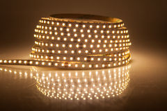 Glowing LED garland, strip Royalty Free Stock Photos
