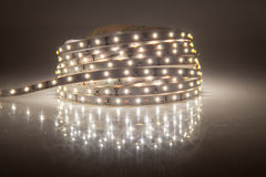 Glowing LED garland, strip. New technology Stock Photo