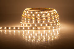 Glowing LED garland, strip. New technology Stock Images