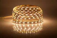 Glowing LED garland, strip Royalty Free Stock Image