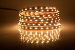 Glowing LED garland, strip Royalty Free Stock Photos