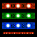 glowing LED light strip seamless Stock Photo