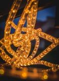 Glowing LED Technology Garland. Glowing LED Technology Electrical Garland Stock Photo
