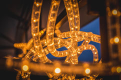 Glowing LED Technology Garland. Glowing LED Technology Electrical Garland Stock Photos