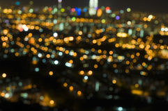 Glowing light. Of night city Stock Images