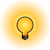 Glowing light bulb Stock Image