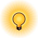 Glowing light bulb Stock Image