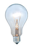 Glowing light bulb. On white background Royalty Free Stock Images