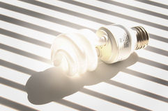 Glowing light bulb Royalty Free Stock Photography