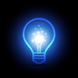 Glowing light in the bulb Stock Photography