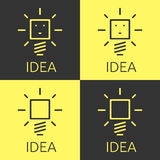 Glowing light bulbs set Royalty Free Stock Images