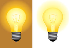 Glowing light bulbs Royalty Free Stock Image