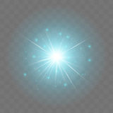 Glowing light burst explosion with transparency Royalty Free Stock Photography