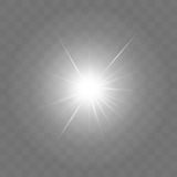 Glowing light burst explosion with transparency Royalty Free Stock Photo