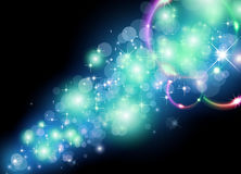 Glowing Light for Christmas Festive Backgrounds Stock Images