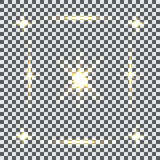 Glowing light effects. Sparkling and shining stars, bright flashes of lights with a radiating. Transparent light effects. Vector. Glowing  light effects Royalty Free Stock Image