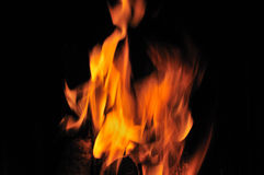Glowing light of the fire Royalty Free Stock Photo