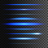 Glowing light lines. Vector light glow effect Royalty Free Stock Images