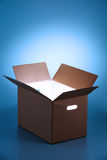 Glowing  light from open box Stock Image
