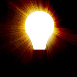 Glowing lightbulb Royalty Free Stock Image