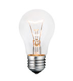 Glowing Lightbulb Photo Isolated on White Royalty Free Stock Image