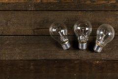 Glowing lightbulbs Royalty Free Stock Photos