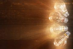 Glowing lightbulbs Royalty Free Stock Photography