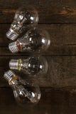 Glowing lightbulbs Stock Image