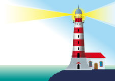 Glowing lighthouse Royalty Free Stock Image