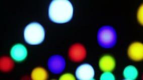 Glowing lights birdhouses stock video footage